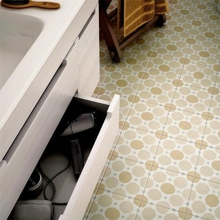 SomerTile 7.875x7.875-inch Piccola Pastel Topaz Porcelain Floor and Wall Tile (25/Case, 11.46 sqft.)