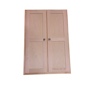 WG Wood Products Deep-Recessed 4-door Cabinet