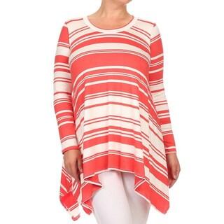 Women's Striped Plus-size Tunic