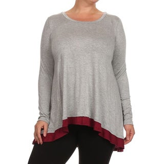 Women's Color-block Plus-size Tunic