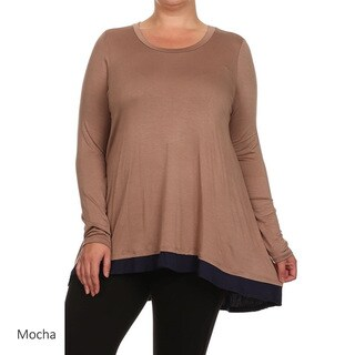 Women's Color-block Plus-size Tunic