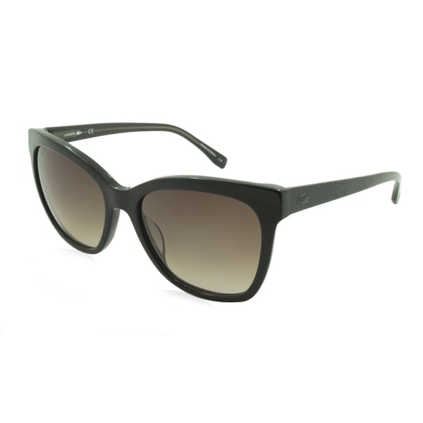fa7a8b1cebbf Shop Lacoste L792S-001 Round Black Gradient Sunglasses - Free Shipping  Today - Overstock - 13189326