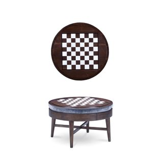 A.R.T. Furniture Epicenters Silver Lake Brown Walnut Venner Game/Storage Cocktail Ottoman