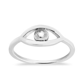 Handmade Evil Eye Protection Sterling Silver Everyday Ring (Thailand)