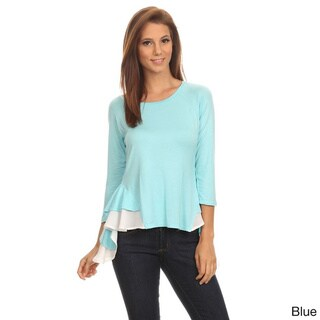Women's Solid Color Rayon/Spandex Oversized Tunic