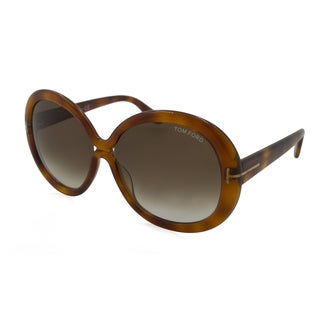 Tom Ford TF0388-56B Oversized Brown Gradient Sunglasses
