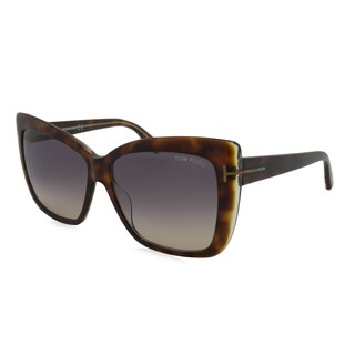 Tom Ford TF0390-53F Oversized Brown Gradient Sunglasses