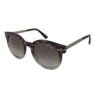Tom Ford TF0435-83T Oversized Violet Gradient Sunglasses