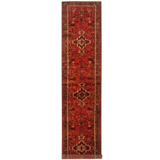 Herat Oriental Persian Hand-knotted Tribal Hamadan Wool Runner (3'6 x 16'10)