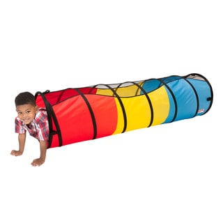 Play Hut Red Polyester 6-foot Peek-a-Boo Tunnel Playhouse