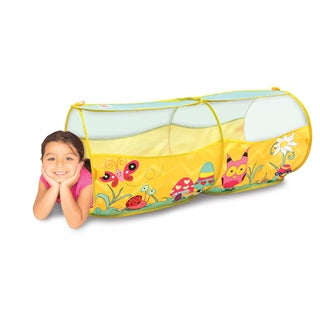 Play Hut Play Village EZ Twist Yellow Polyester Play Tunnel
