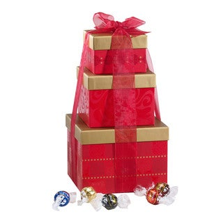 Lindt Lindor Chocolates Holiday Stacking Tower