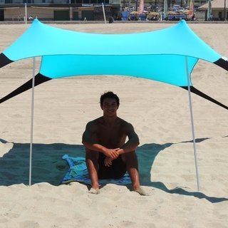 EasyGo Blue Vinyl Portable Pop-up Sun Shade Tent Canopy
