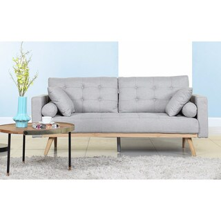 Tufted Linen Mid-century Modern Sofa