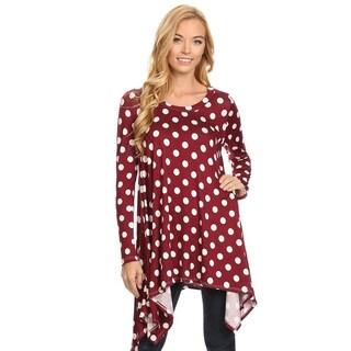 Women's Polka Dot Polyester Oversized Tunic