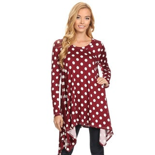 Women's Polka Dot Polyester Oversized Tunic (More options available)