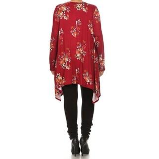 Plus Size Women's Floral Tunic