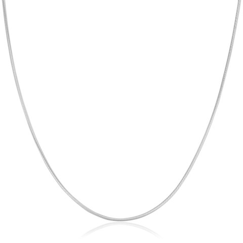 Fremada Italian Sterling Silver 1.2-mm Round Snake Chain Necklace