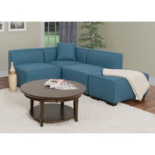 CorLiving Lida 4pc Fabric Sectional Chaise Set