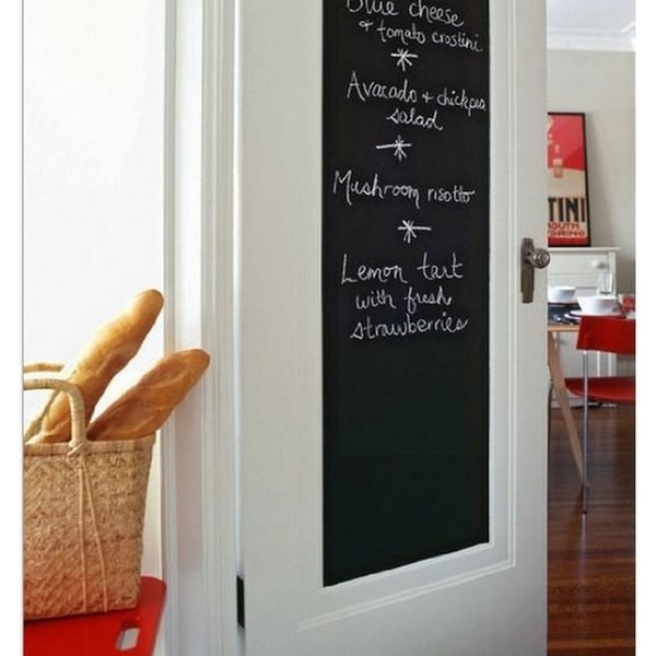 shop black chalkboard write-on removeable vinyl wall sticker - on