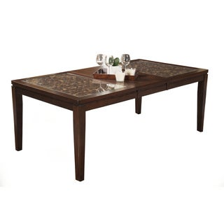 Alpine Granada Merlot Wood/Veneer Extension Dining Table