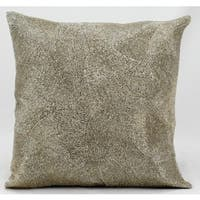 Mina Victory Luminescence Beaded Fan Silver Throw Pillow (16-inch x 16-inch) by Nourison