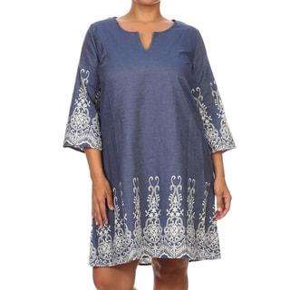 Plus Size Women's Short Dress