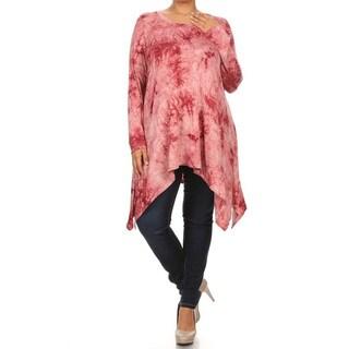 Women's Tie-dye Plus-size Shirt Dress