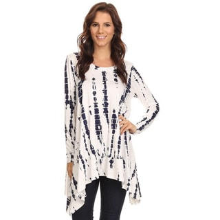 Women's White Tie-dye Tunic