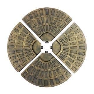 EasyGo Gold-tone Plastic Fan-shaped Umbrella Base