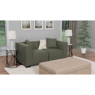 CorLiving Lida 3pc Fabric Loveseat Sofa