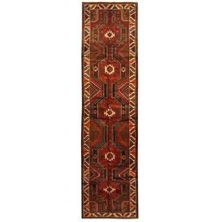 Herat Oriental Persian Hand-knotted Tribal Hamadan Wool Runner (3'6 x 13'6)