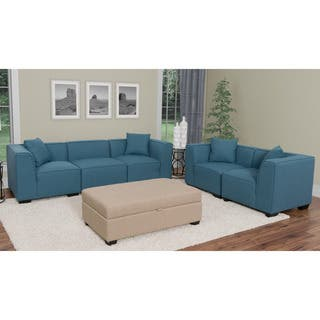 CorLiving Lida 5pc Fabric Sectional Sofa and Loveseat Set|https://ak1.ostkcdn.com/images/products/13190261/P19911801.jpg?impolicy=medium