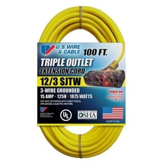 Yellow SJTW 15A Lighted Tr-Tap