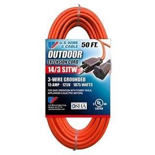 Orange SJTW 15A Cord Set