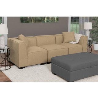 CorLiving Lida 3pc Fabric Sectional Sofa