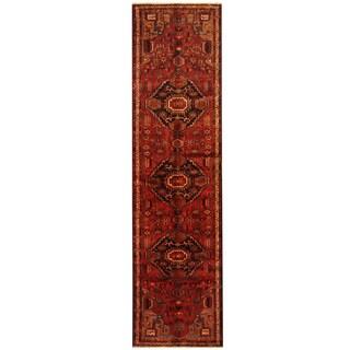 Herat Oriental Persian Hand-knotted Tribal Hamadan Wool Runner (3'5 x 13'7)