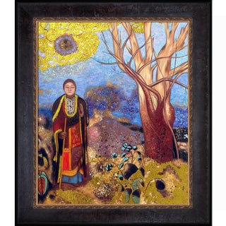 Odilon Redon 'The Buddha (Luxury Line)' Hand Painted Framed Oil Reproduction on Canvas