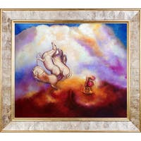 Odilon Redon 'Pantheon, 1910' Hand Painted Framed Oil Reproduction on Canvas