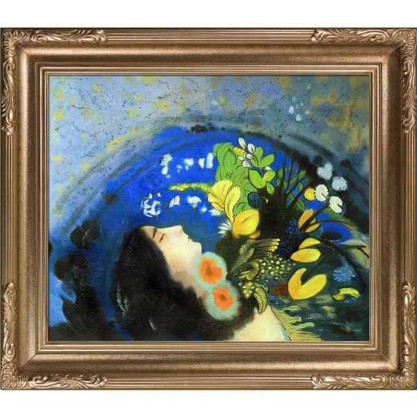 Odilon Redon 'Ophelia' Hand Painted Framed Oil Reproduction on Canvas