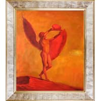 Odilon Redon 'Icarus' Hand Painted Framed Oil Reproduction on Canvas