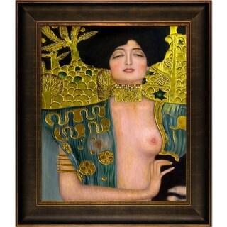 Gustav Klimt 'Judith Klimt I (Luxury Line)' Hand Painted Framed Oil Reproduction on Canvas