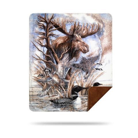 Denali Moose-Sometimes I'm By Myself Blanket - 60x70