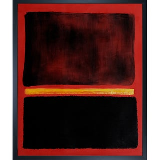 Mark Rothko 'Untitled,1956' Hand Painted Framed Oil Reproduction on Canvas