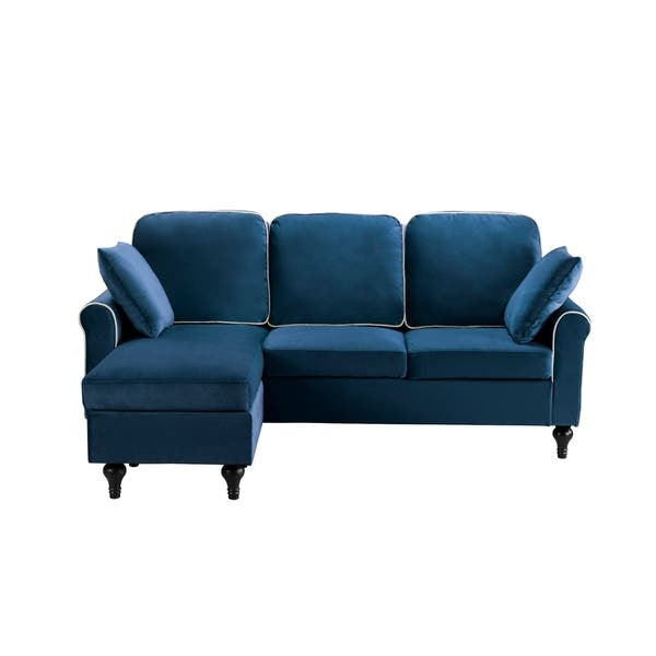 Prime Shop Traditional Small Space Velvet Sectional Sofa With Onthecornerstone Fun Painted Chair Ideas Images Onthecornerstoneorg