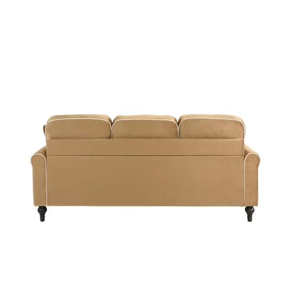 Pleasing Shop Traditional Small Space Velvet Sectional Sofa With Lamtechconsult Wood Chair Design Ideas Lamtechconsultcom