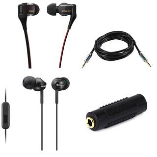 Sony XBAH1 Hybrid 2-Way Driver In-Ear Headphones & Sony Deep Bass Earphones