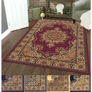 Admire Home Living Caroline Oriental Multicolored Area Rug (7'9 x 11') - 7'9 x 11'