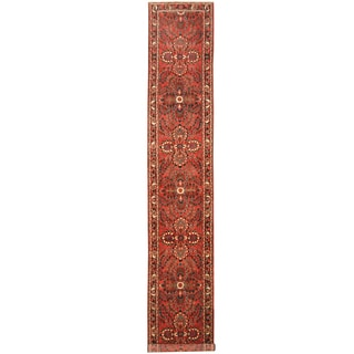 Herat Oriental Persian Hand-knotted Tribal Hamadan Wool Runner (2'9 x 16'3)