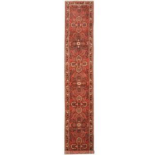 Handmade Herat Oriental Persian Tribal Hamadan Wool Runner (Iran) - 2'9 x 16'3